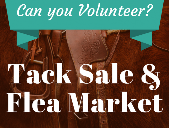 Can you Volunteer at the Tack Sale?