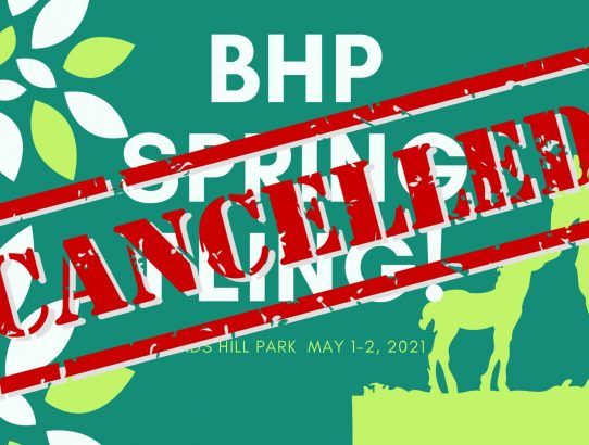 DRM BHP Spring Fling Cancelled
